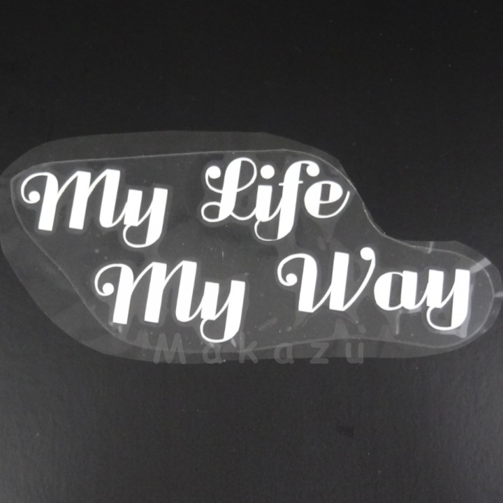 My Life My Way  16,8x7 cm