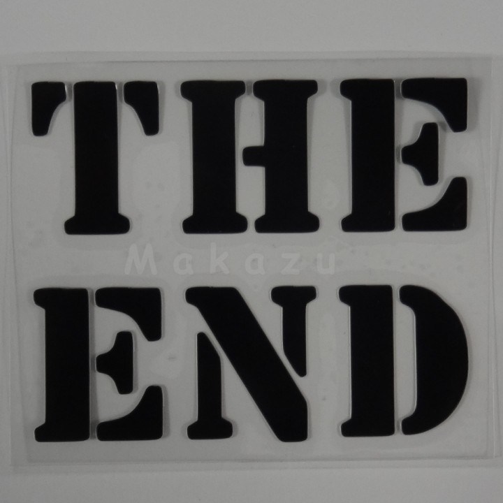 THE END  15x12,5 cm