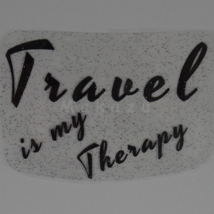 Travel is my Therapy 20x14 m