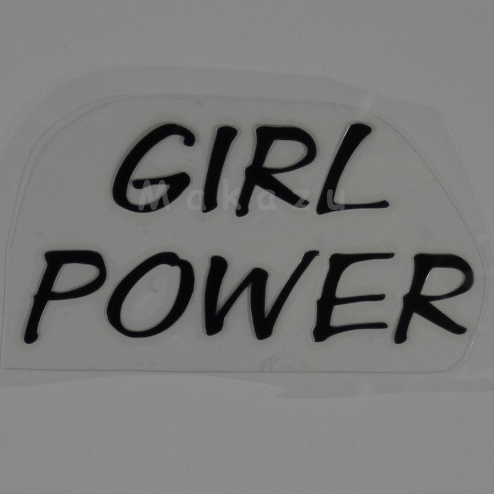 GIRL POWER 12x6 cm